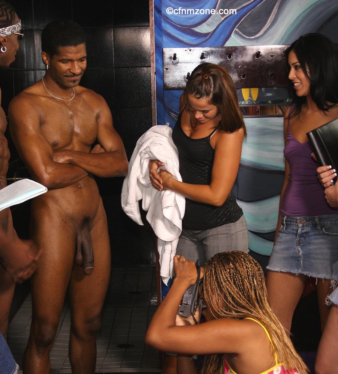 Cfnm conventional reporter interview porn actors on set