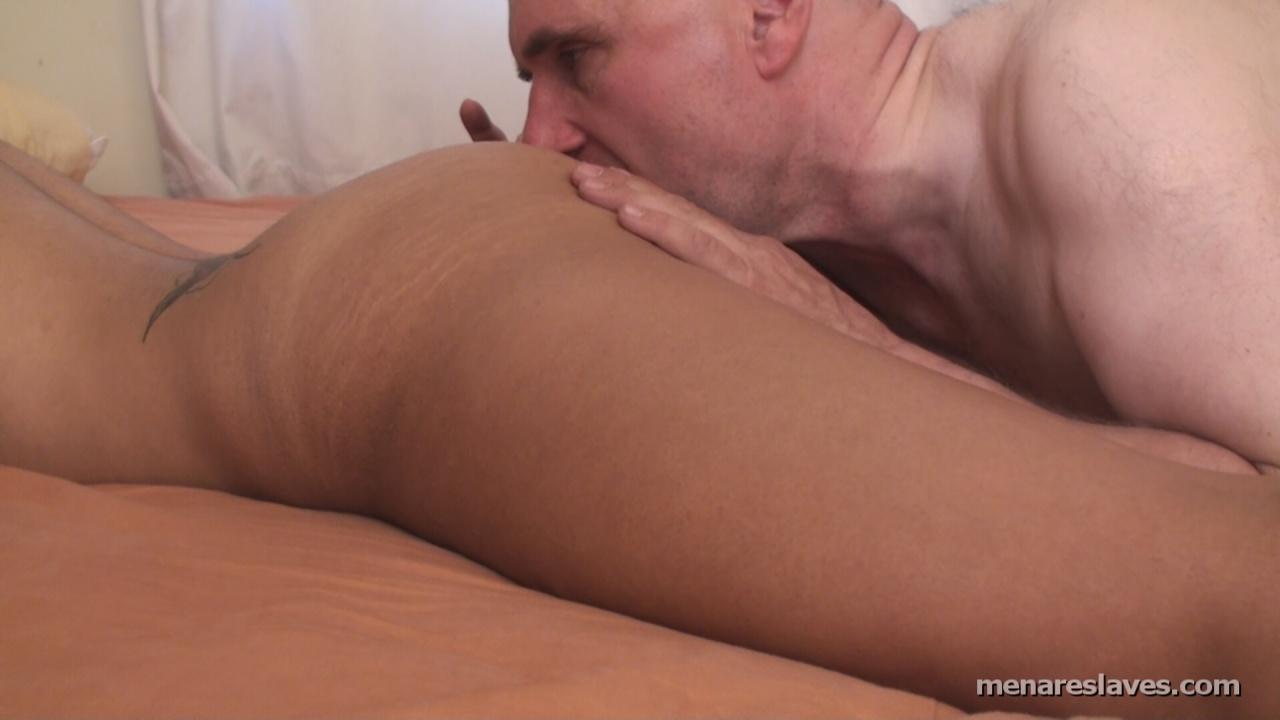 Mature gay kissing