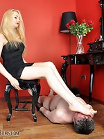 It is a great privilige to be at his Mistress feet and he will be...