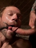 A Bound Gods member gets tied up, abused and fucked till he begs...